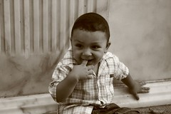 only for a smile (i r i d a) Tags: portrait sepia turkey ismir