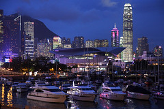 Night in Hong Kong (Pawel Boguslawski) Tags: china city sea hk night canon hongkong lights boat asia skyscrapers 40d cityskip scenicsnotjustlandscapes