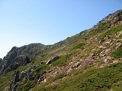 Point extrême atteint vers 1830m: vers la crête du Capu a u Ceppu surplombant le lac du Ceppu