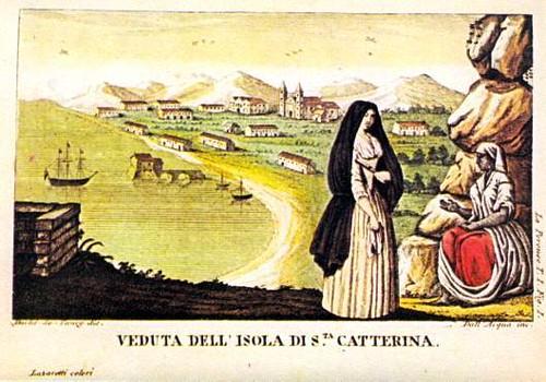 La Pérouse- Veduta dell´ Isola di Sta.Catterina.