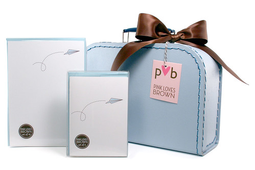 Paper Airplane Suitcase Set