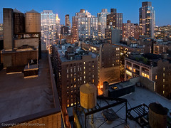 Office view (widest) (scottdunn) Tags: newyork twilight chelsea cityscape officeview manhattan manhattanskyline notkap olympusep1
