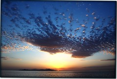 Kos, Greece (plemlijn (www.lemlijnfotografie.nl)) Tags: sunset sea sky orange cloud sun mountain water yellow island greek horizon kos greece griekenland aegeansea canon50d pascallemlijn lemlijnfotografie wwwlemlijnfotografienl