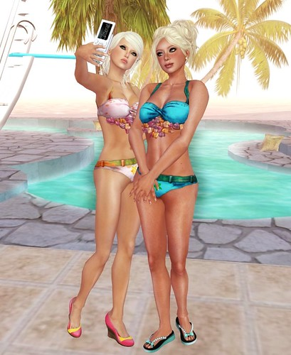 Wilma + Me; poolside
