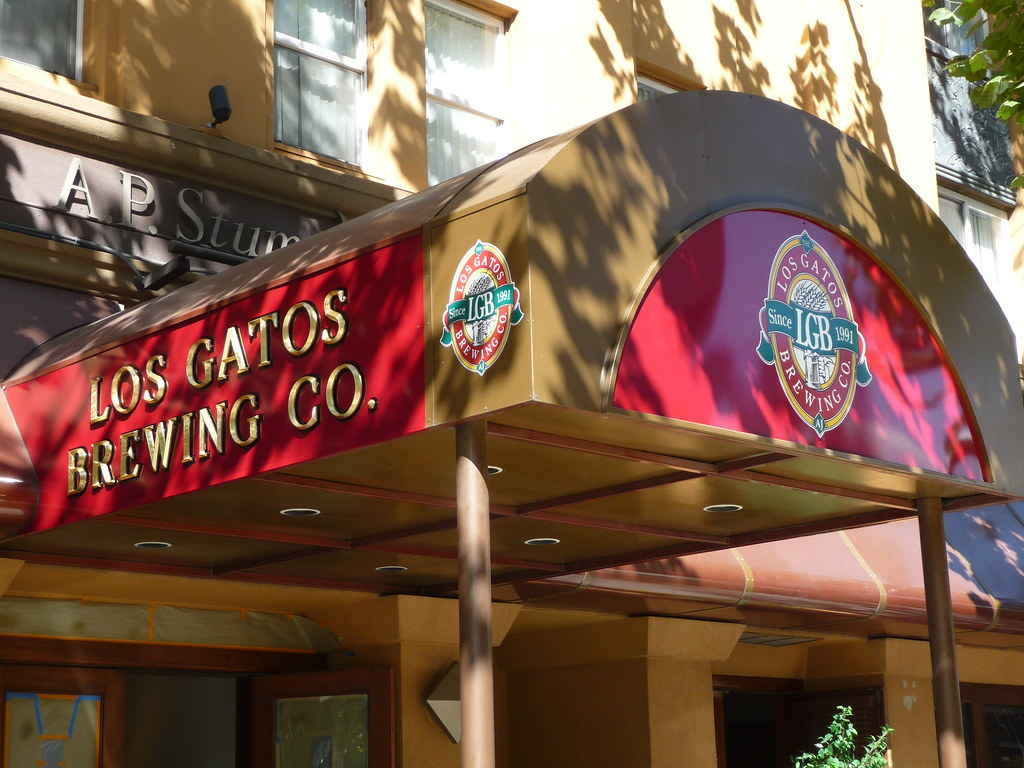 Los Gatos Brewing Company @ San Pedro Square Entrance Awning