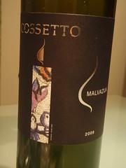 "2009 Cossetto ""Malvazija"" - Istrian Malvasia"