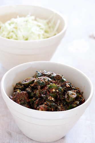 saag lamb (curry with spinach)