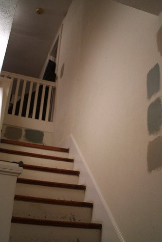 Stairway before paint