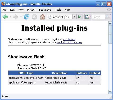 installed-plug-ins