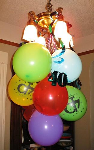 bday balloons inside