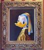 Duck with a Pearl Earring Hanging in the Disney Gallery (Barry Wallis) Tags: girl painting disneyland vermeer dlr daisyduck disneylandresort disneygallery pearlearring barrywallis msh0707 msh070711 msh0411 msh041119