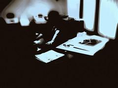 B full of  for all humans (jaciii (off&on)) Tags: blackandwhite bw canon solitude abstractart manipulation service solitary job workday  leftalone riveroflight urnotalone pictureoflife sd600 canonsd600 comeintomyworld darkemotions depressedandbipolar gettingjobdone servicealwayscon servicewithsmile benotalone clos3toreality ekamil