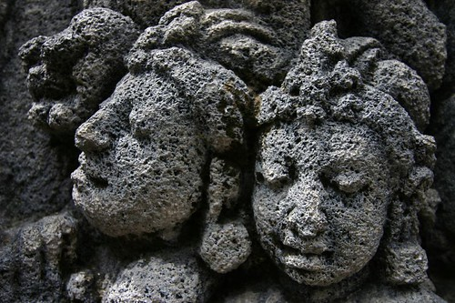 Details. Borobudur Temple, NW of Yogyakarta, central Java.