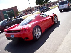 Ferrari Enzo at the Woodward Dream Cruise... (Steve Brandon) Tags: auto usa hardtop car geotagged birmingham automobile michigan unitedstatesofamerica detroit ferrari voiture enzo suburb supercar sportscar redcar exoticcar f60  berlinetta woodwardavenue ferrarienzo italiancar   woodwarddreamcruise enzoferrari redcarnation  ferrarienzoferrari