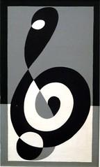 Albert Bottrop (Marco Braun) Tags: white black museum albert negro josef ilusion blanche weiss bianco blanc schwarz bottrop optic quadrat noire optische täuschung notenschlüssel museumquadrat