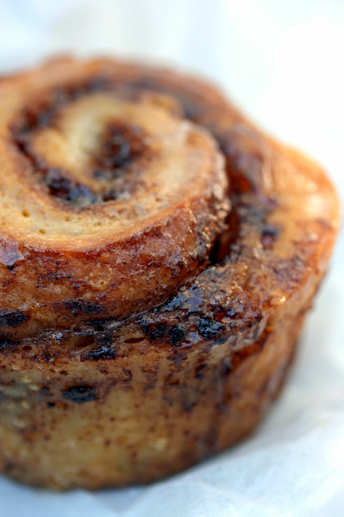 Macro of Cinnamon Roll