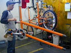 tandem frame - single frame in background