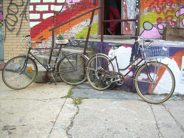 brown bikes