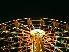 lighting up your night (Esther17) Tags: carnival yellow night lights ride bright ferriswheel yella