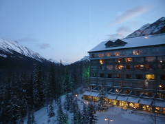 View from the Rimrock Hotel (leguape) Tags: mountain canada sunshine rockies snowboarding hotel rocky powder mount banff rundle rimrock
