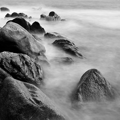 no comment, just see... (Mathieu Calvet) Tags: longexposure sea blackandwhite mer rock noiretblanc 24mm ppg rochers aficionados ndfilter poselongue sigma24mmf18 pentaxk10d bw110 pentaxphotogallery justpentax pentaxart magicsquarepoetry