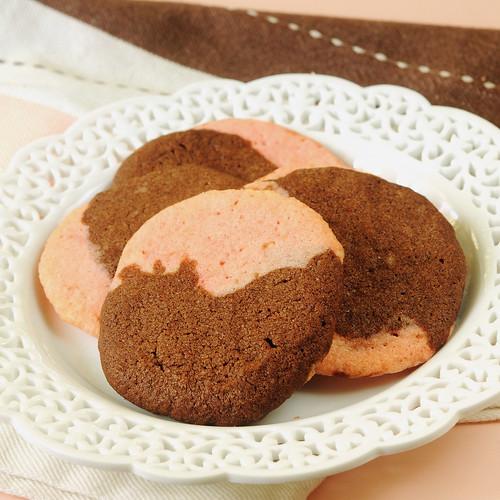 Moonstone Cookies - pink and chocolate moonstones