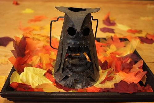 Vintage Owl Lantern