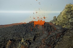 """bluuuubbb"", goes the lava (etnaboris) Tags: italy mountain volcano italia 1999 sicily etna montagna eruption sicilia vulcano spattering lavaflow hornito eruzione colatalavica thelavagoesbluuubbb ahappylittleeruption"