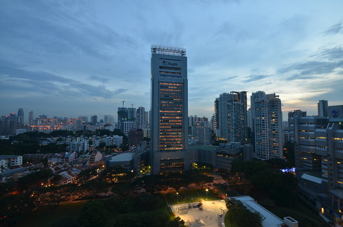 City view from Orchard Central Sky Garden