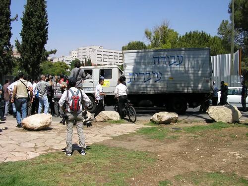 עבודה עברית - המשאית שהכילה כנראה את חיות המשק