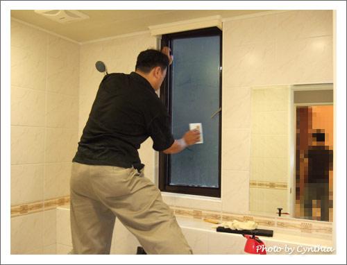 壓克力師傅貼浴室窗戶