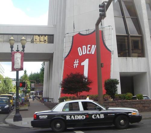 Greg Oden Jersey Radio Cab Portland, Oregon