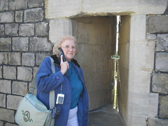 Glennys next to the Arrow Slot - Windsor Castle (3/18/07)