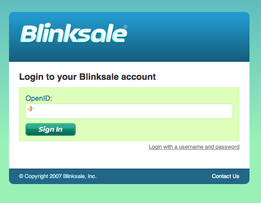 Blinksale OpenID Signin Form
