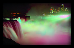 Colorful Niagara Falls (requiemjp) Tags: light summer usa ny color 2004 night niagarafalls falls f707 colorphotoaward