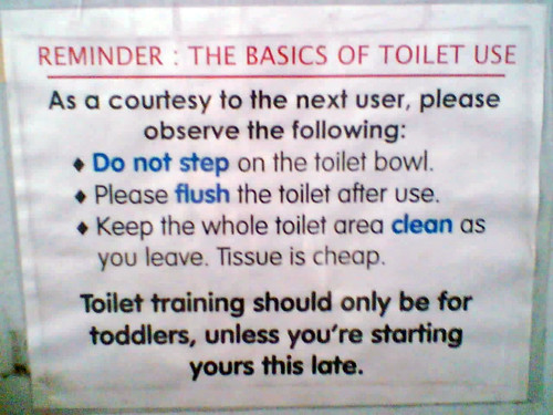 Reminder: The Basics of Toilet Use