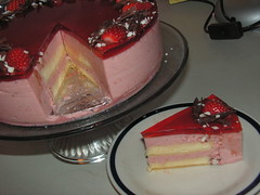 Strawberry Mirror Cake 4