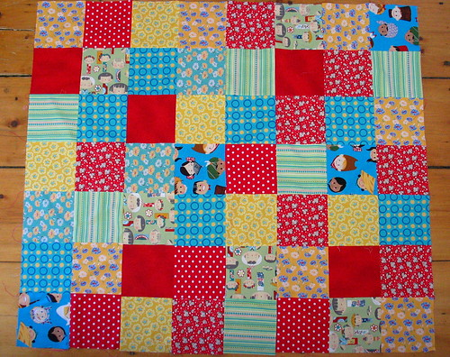 FirstQuilt2007 - quilt top
