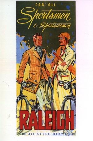 Vintage Raleigh Cycle Poster - Sportsmen
