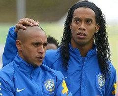 Ronaldinho and Roberto Carlos