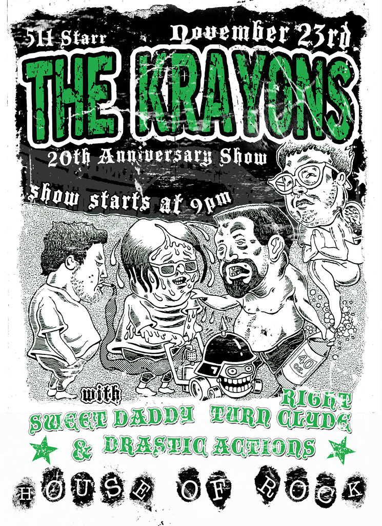 Krayons 20th Anniversary Gig (distressed version)