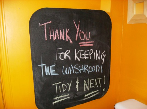 THANK YOU FOR KEEPING THE WASHROOM TIDY & NEAT!