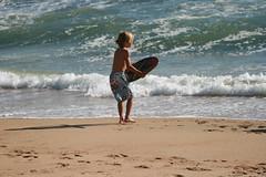 256 (uscgirlnot) Tags: waves sunsetbeach skimboarding