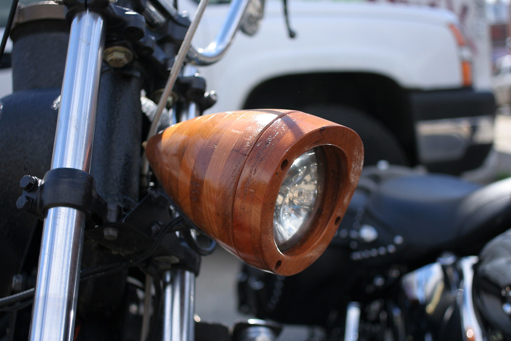 Wooden headlight