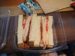 Turkey bacon sandwich