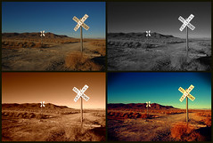 Crossing Variations (sandy.redding) Tags: california monochrome landscape desert copper railroads optikverve 1825mm