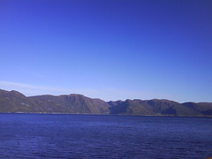 blue sky and fjord