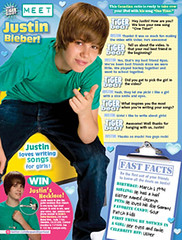 Justin Bieber Magazine Cover Tiger Beat