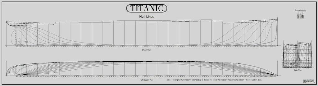 TITANIC CAD Plans