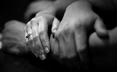 love 2995 (korafotomorgana) Tags: love engagement ring wedding hand bw blackandwhite pentaxk200d nyc newyork